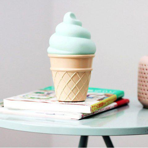 Shops Cute Green Ice Cream Shape Children Sleep Bedroom Decoration Lamp Night Light