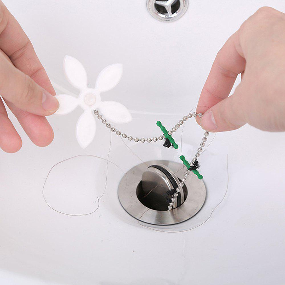 10 Pcs Kitchen Flower Shape Sink Cleaning Hook Sewer Hair Cleaner Bathroom Outlet Plugging Dampers 254620601