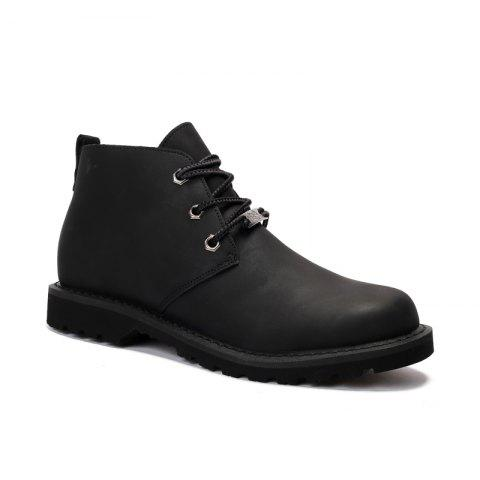 Discount Boots Solid Color Durable Comfy Lacing Shoes