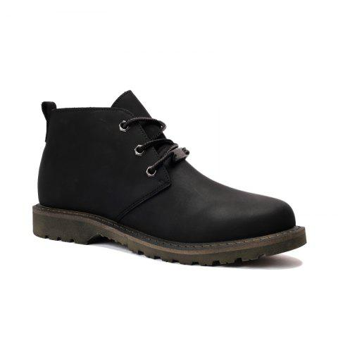Outfits Boots Solid Color Durable Comfy Lacing Shoes
