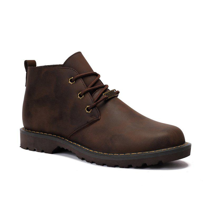 Online Boots Solid Color Durable Comfy Lacing Shoes