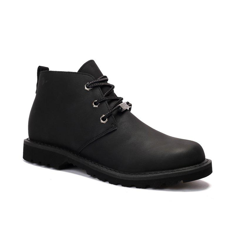 Outfit Boots Solid Color Durable Comfy Lacing Shoes