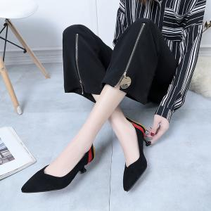 2018 New Style Fashion Sharp Toe Rubber Sole High-Heel Shoes -