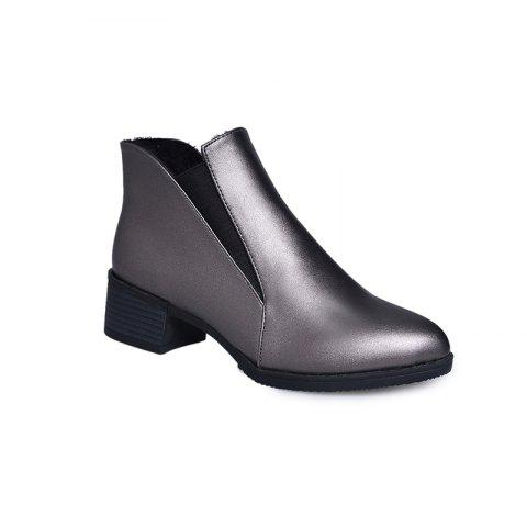 Unique 2018 New Style Solid Color Sharp Toe Short Tube Rubber Sole Chelsea Boots