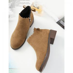 2018 New Style Fashion Simple Classic Solid Color Side Zipper Short Tube Chelsea Boots -