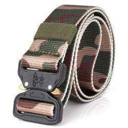 Men's Casual Outdoor Military Tactical Polyester Waistband Canvas Web Belt -