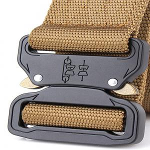 Aluminum Alloy Buckle Belt Men's Belt Nylon Training Waistband -