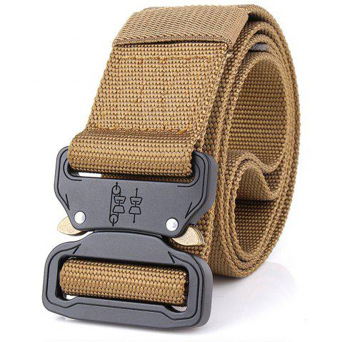 Fancy Aluminum Alloy Buckle Belt Men's Belt Nylon Training Waistband