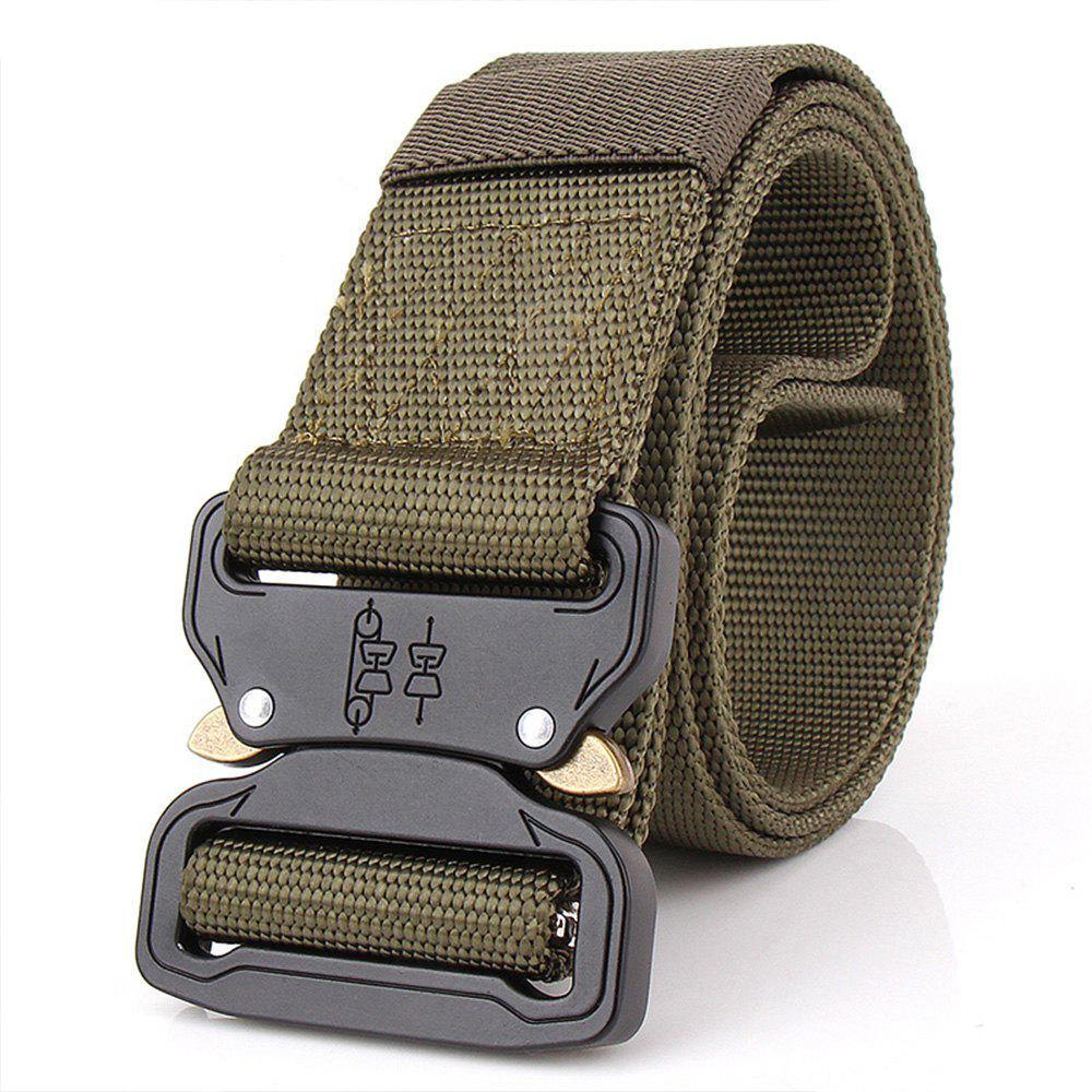 Buy Aluminum Alloy Buckle Belt Men's Belt Nylon Training Waistband
