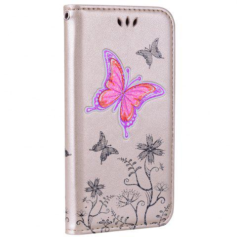 New for Samsung Samsung Galaxy A3 2017 Butterfly Pattern PU Leather Wallet Flip Protective Case Cover with Card Slots