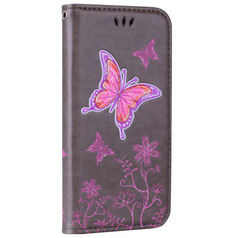 Discount for Samsung Samsung Galaxy A3 2017 Butterfly Pattern PU Leather Wallet Flip Protective Case Cover with Card Slots