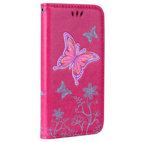Outfit for Samsung Samsung Galaxy A3 2017 Butterfly Pattern PU Leather Wallet Flip Protective Case Cover with Card Slots