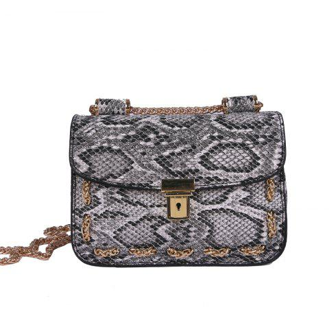 Affordable Snakeskin Chain Messenger Bag Hand Shoulder Bag