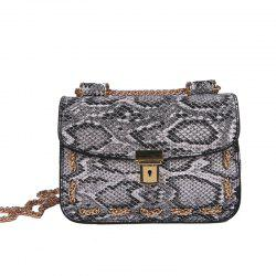 Snakeskin Chain Messenger Bag Hand Shoulder Bag -