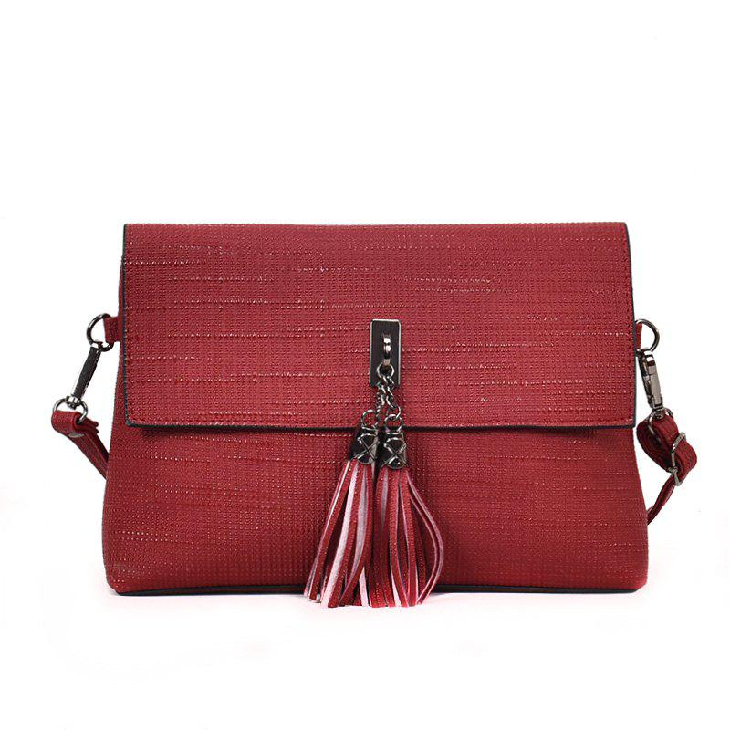 Shop Tassel Shoulder Bag Messenger Bag