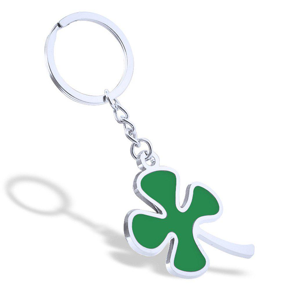 Buy Fashion Clover Keychain Metal Key Ring Creative Gift