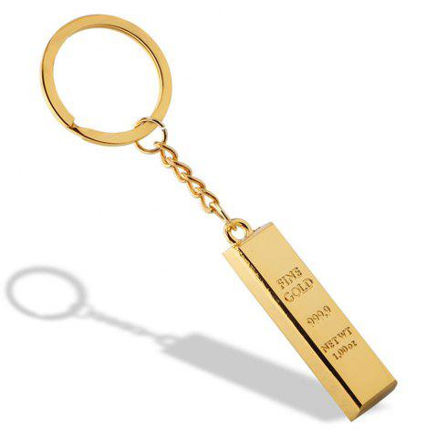Discount Fashion Gold Brick Keychain Metal Key Ring Creative Gift