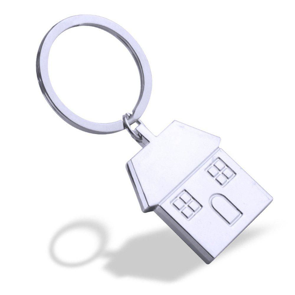 Online House Keychain Metal Key Ring Creative Gift
