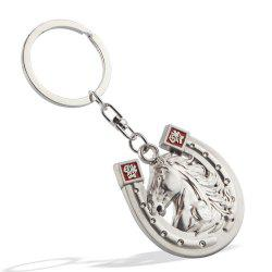 Horsehead Keychain Metal Key Ring Creative Gift -