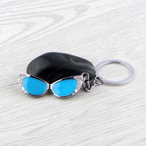 Glasses Keychain Metal Key Ring Creative Gift -