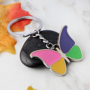 Colorful Butterfly Keychain Metal Key Ring Creative Gift -