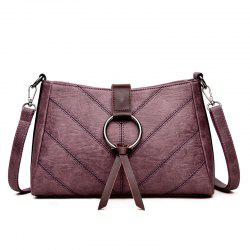 Soft Leather Middle-aged Mother Messenger Bag -