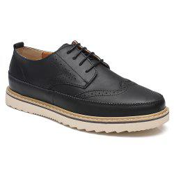 Pattern Casual Leather Shoes -
