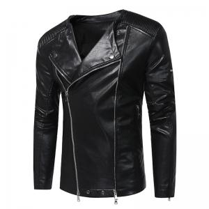 Large New Fashion Lapel Motorcycle Zipper Short Tide Male Jacket -