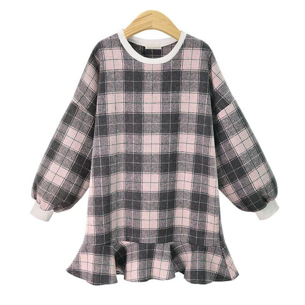 2018 Printemps Nouvelle Plus Size Femmes Plaid Dress