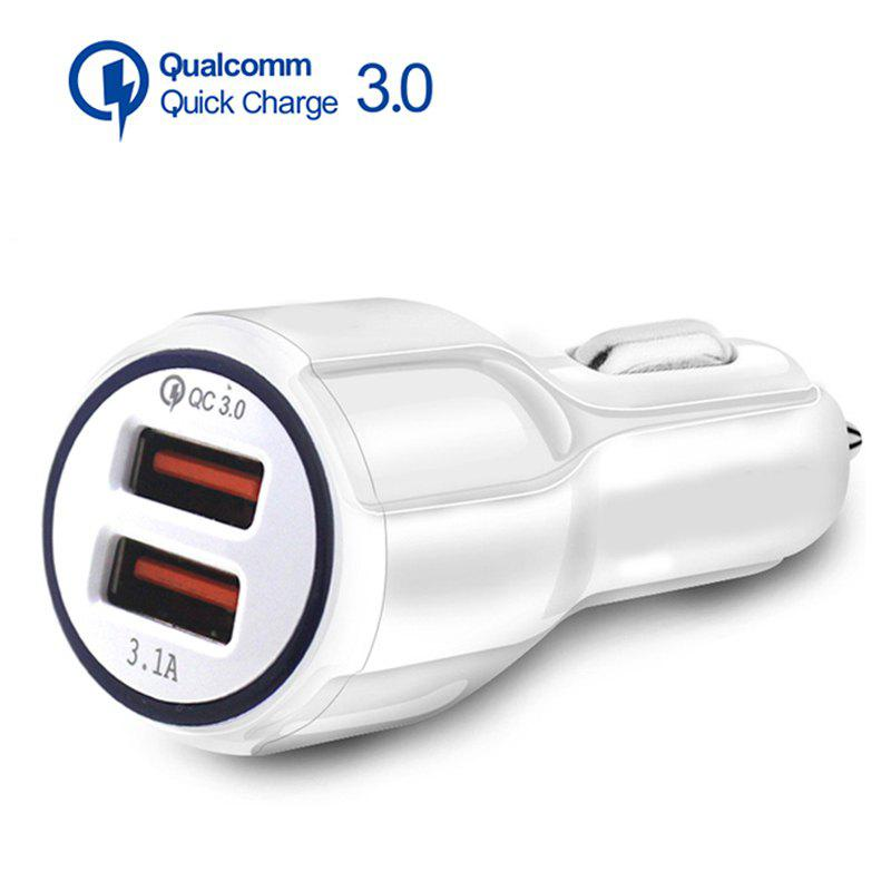 3.1A Dual USB Car Charger Quick Charge QC 3.0 Car Charger for iPhone Samsung XIaomi