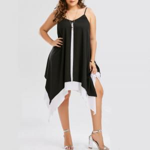 V-neck Large Pendulum Irregularity Dress -
