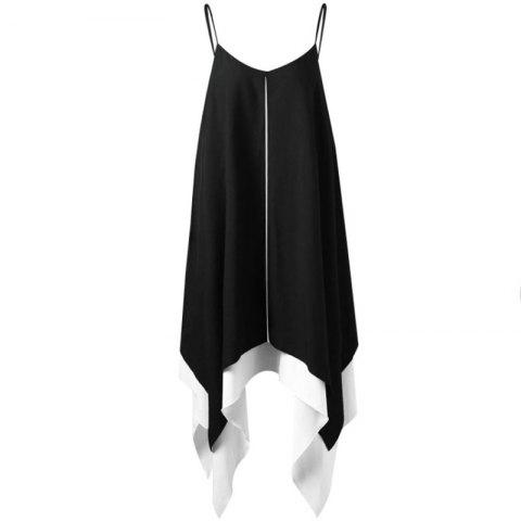 Online V-neck Large Pendulum Irregularity Dress