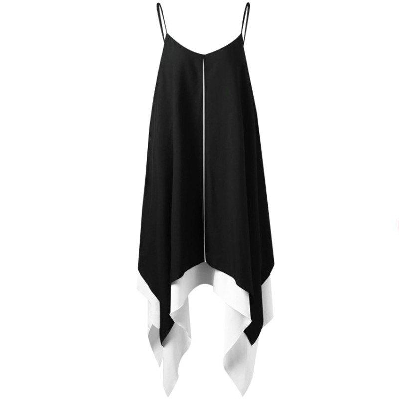 Cheap V-neck Large Pendulum Irregularity Dress
