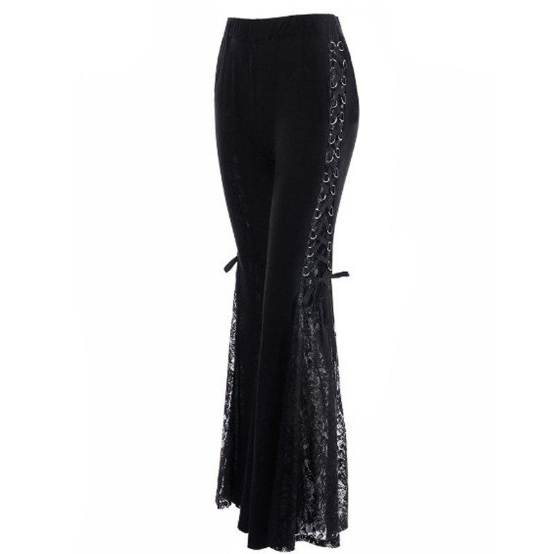 Hot 2018 New Punk Lace Pants Trousers
