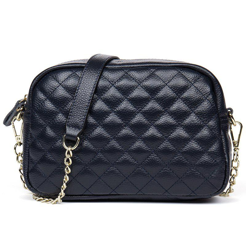 Buy HMILY Women Messenger Bag Genuine Leather Plaid Ladies Crossbody Bag Chain Trendy Cowskin Small Shopping Daily Shoulder