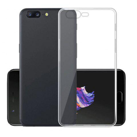 Trendy Ultra-Thin Tpu Back Cover Case for Oneplus 5 - Transparent