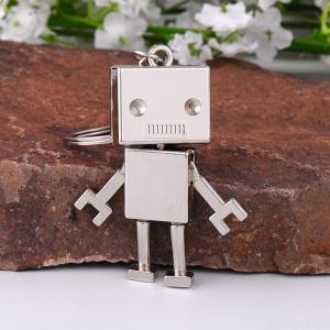 Creative Gifts Metal Robot Model Key Chain Fashion Key Rings ( Color: Antique bronze, silver ) -