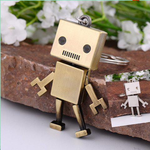 Outfits Creative Gifts Metal Robot Model Key Chain Fashion Key Rings ( Color: Antique bronze, silver )
