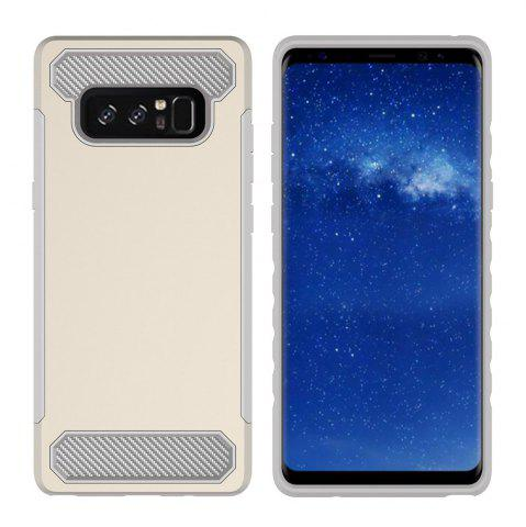 Fashion for Samsung Galaxy Note 8 Shockproof  Hard PC Flexible TPU Laminated Carbon Fiber Chrome Anti-scratch Protective  Case