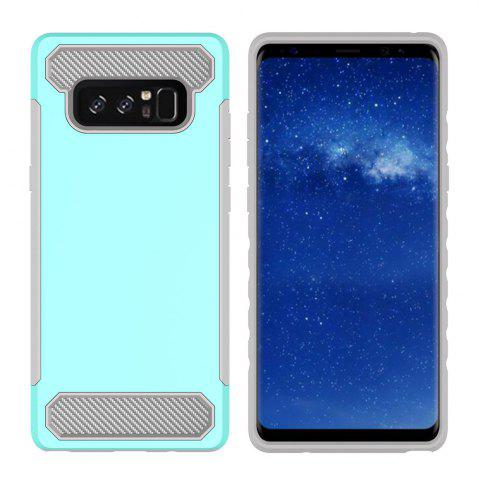 Buy for Samsung Galaxy Note 8 Shockproof  Hard PC Flexible TPU Laminated Carbon Fiber Chrome Anti-scratch Protective  Case