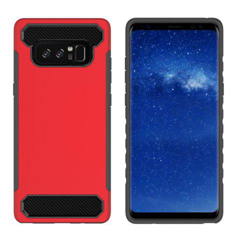 pour Samsung Galaxy Note 8 antichoc dur PC Flexible TPU laminé en fiber de carbone Chrome anti-rayures étui de protection