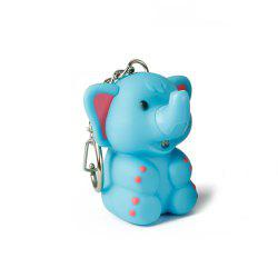 Elephant Cute Key Hanging Decorations Lighting Vocal Small Animals Keyring -