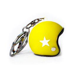 Creative Cute Motorcycle Helmet Vietnam Small Tintin Hat Car Key Chain -