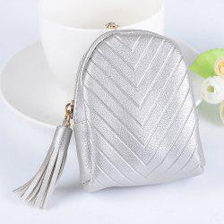 Beautiful Small Backpack Pendant Leather Tassel Purse Car Key Ring -