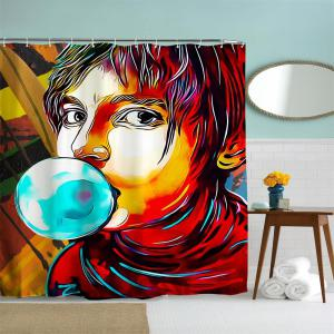 Anime Man God Polyester Shower Curtain Bathroom  High Definition 3D Printing Water-Proof -