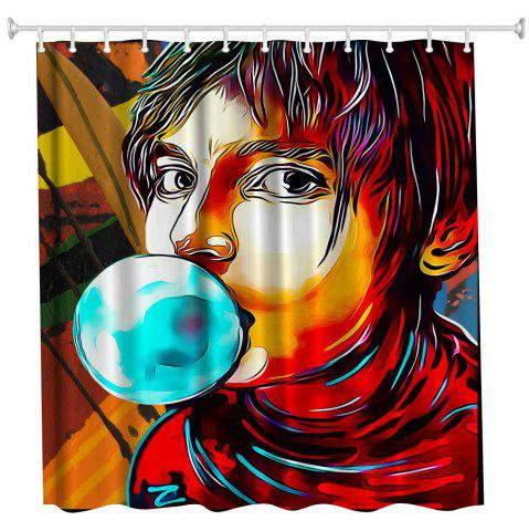 Cheap Anime Man God Polyester Shower Curtain Bathroom  High Definition 3D Printing Water-Proof
