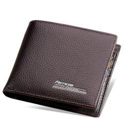 The First Layer Vertical Business Casual Card Bit Simple Men's Leather Wallet -