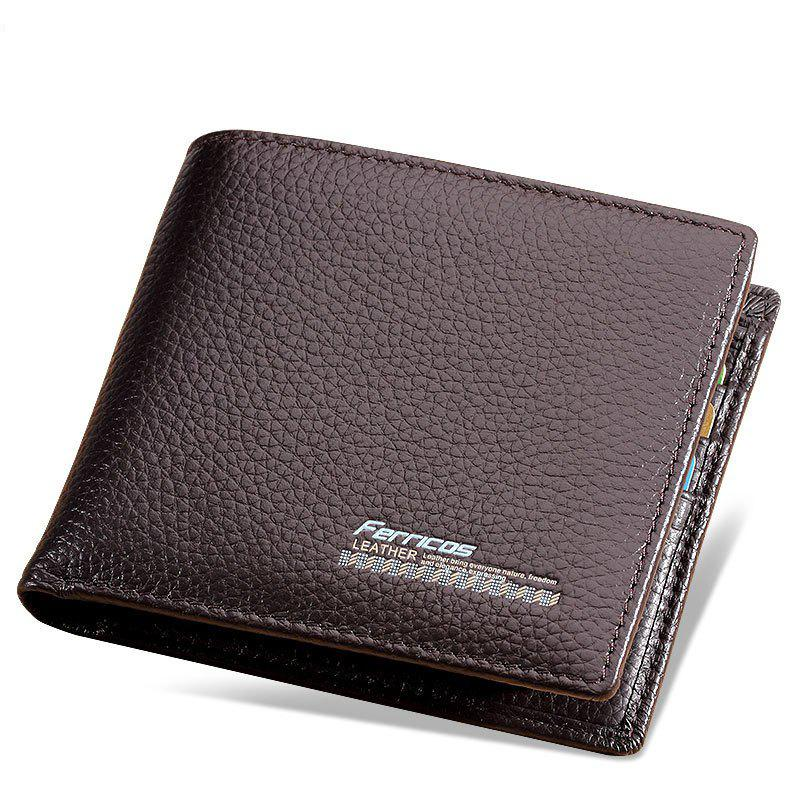 Shops The First Layer Vertical Business Casual Card Bit Simple Men's Leather Wallet