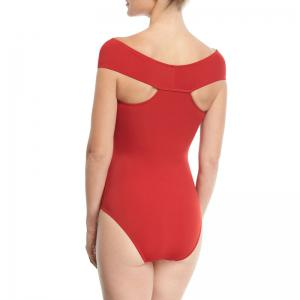 Fashion Siamese Bikini Red Cross Sections Swimsuit -