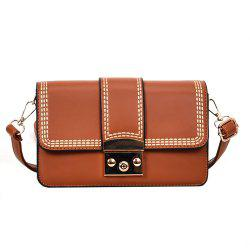 Fashion Color Thread Lock Small Bag New Female Shoulder All-match Crossbody Tide -
